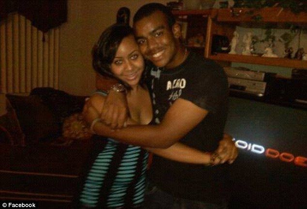 Dead: Cheerleader Aaliyah Johnson, pictured with her cousin Tim, was said to be a very 'humble' and 'sweet' gir