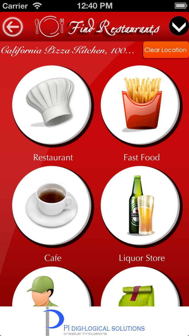 Find Restaurants searches and navigates near by hotels , bars , fast food around your location.