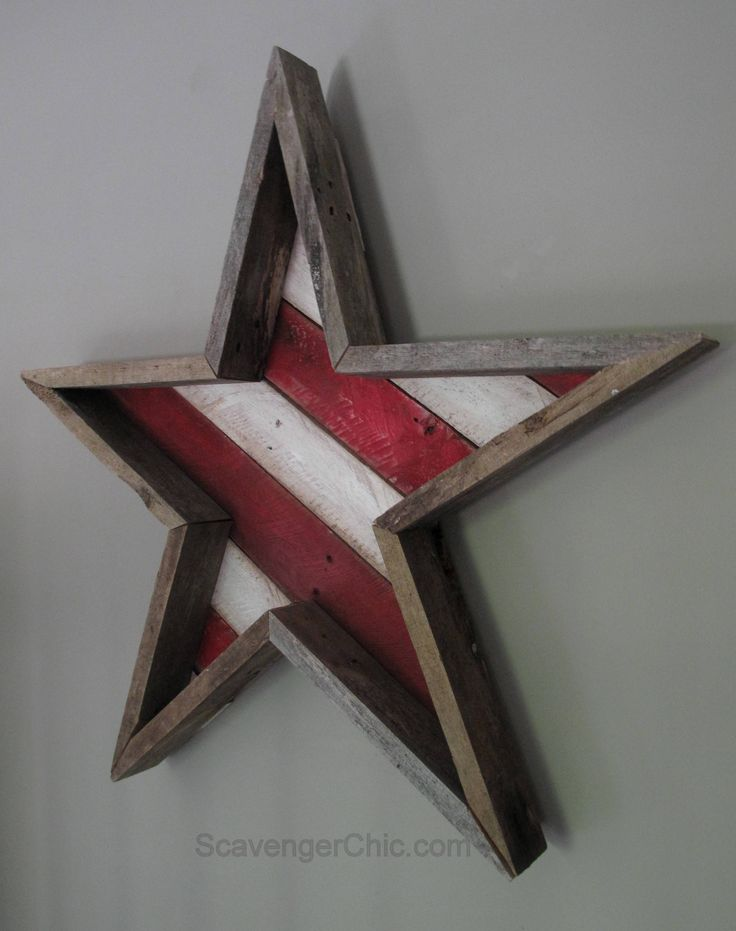 Pallet wood stars and stripes for the 4th of july diy for Diy wood crafts