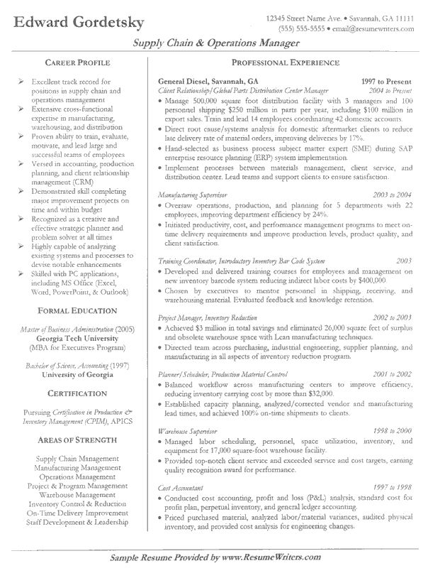 156 best Resume   Job images on Pinterest Resume examples, Free - sample operations manager resume