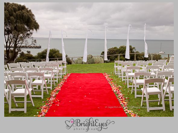 Outdoor ceremony location... Mornington Peninsula Wedding Photographer, The Portsea Hotel, Bright Eyes Photography