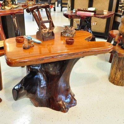 Tisch massivholz wurzelholz m bel gartenm bel what i for Design esstisch gigant wildeiche