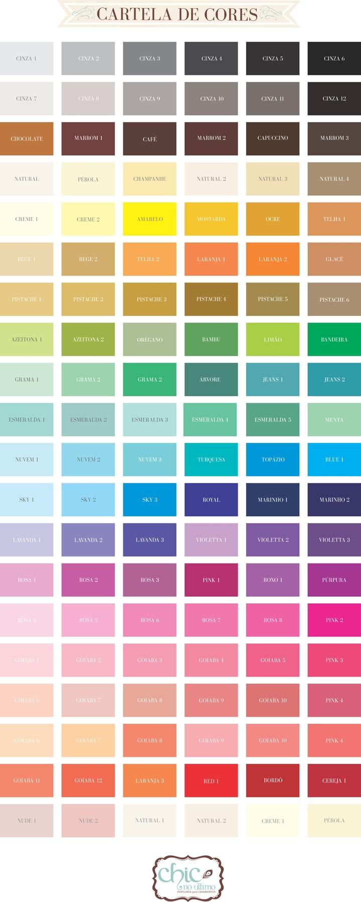 paleta de cores                                                                                                                                                     Mais