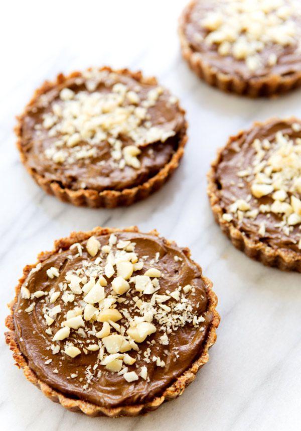 Chocolate Avocado Tartlets - Vegan