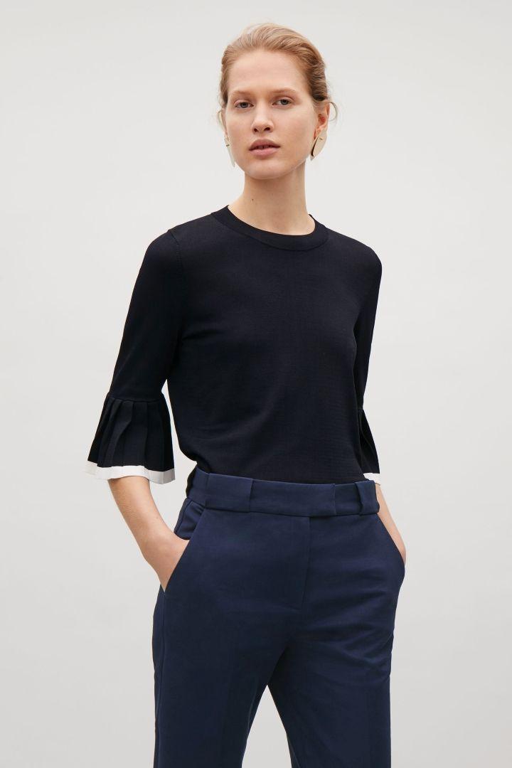 COS | Pleated sleeve jumper