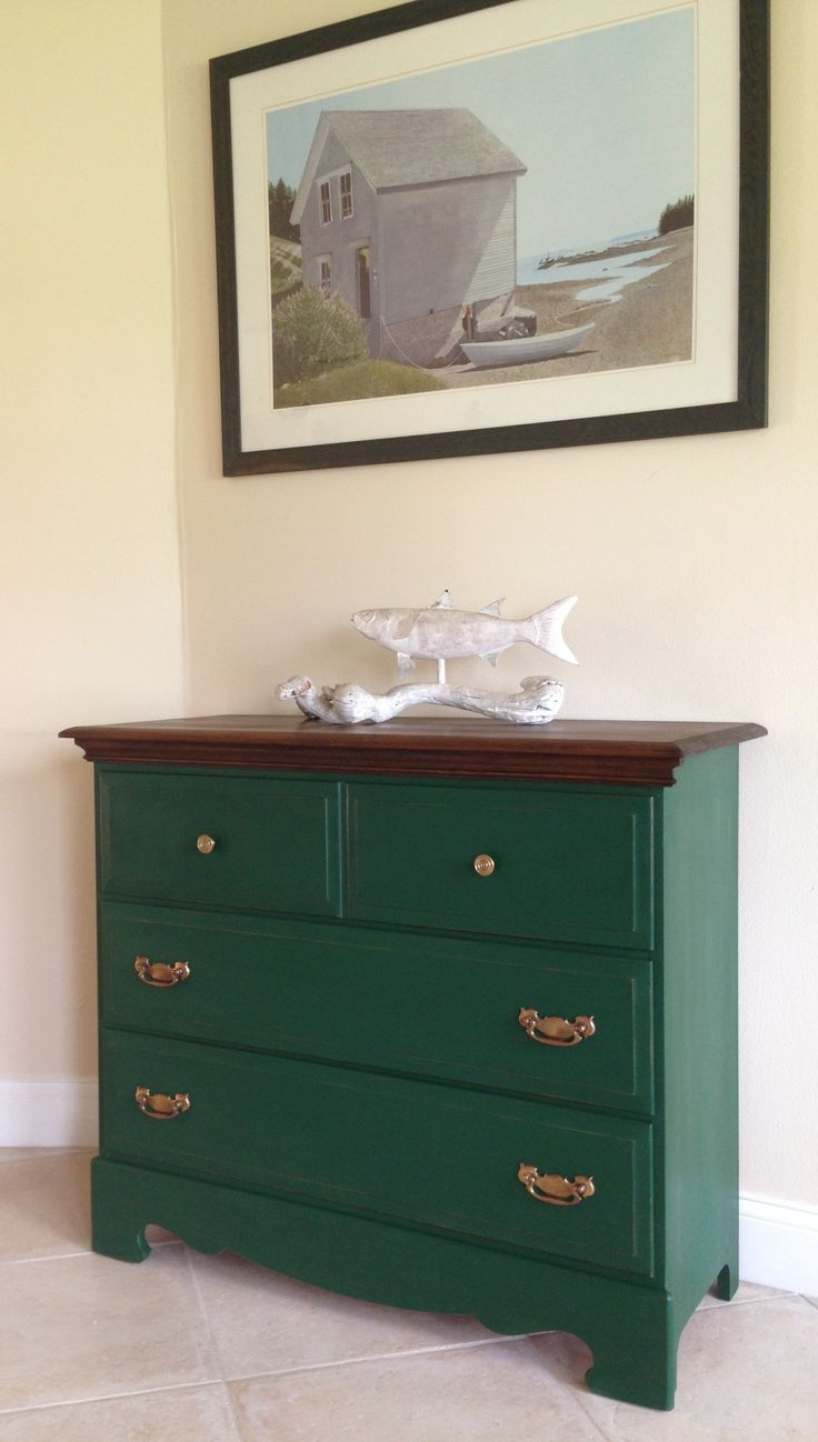 6 Drawer Chest Of Drawers Annie Sloan Amsterdam Green | Forever Loved Decor In 2019