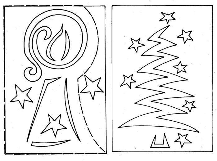 появлением новогодние открытки своими руками с шаблонами протяжении веков оно