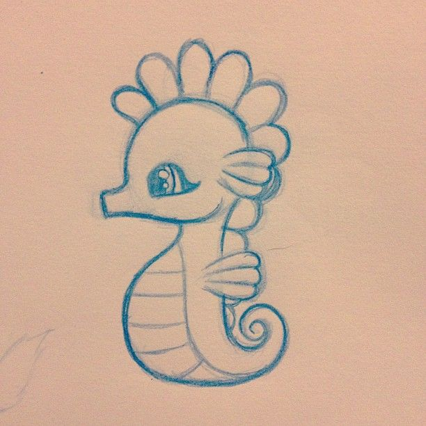 Best 25 cute drawings ideas on pinterest pretty for How to draw a simple seahorse