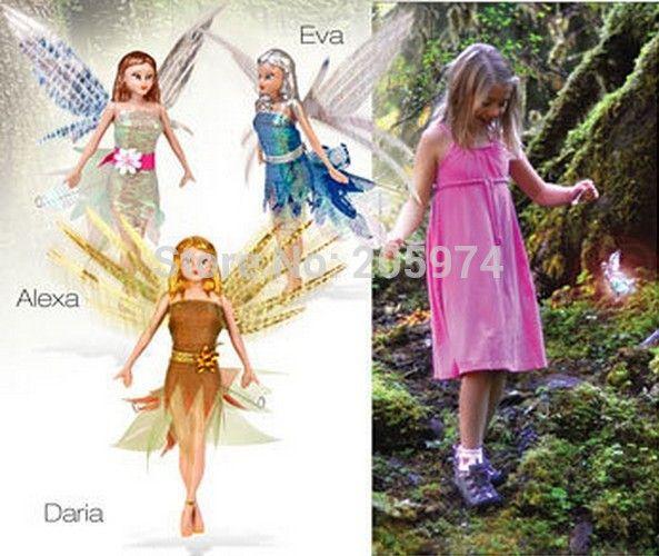 3 шт./лот летающая фея куклы детская игрушка мода куклы махать крыльями фей летающих феи мара, Дарья, Alexa, Ева рождественский подарок