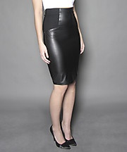 $25.00 Faux leather combo skirt - Suzy Shier