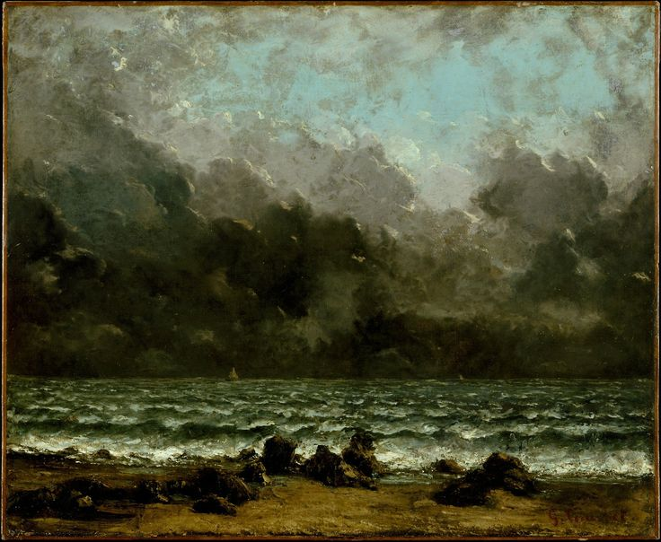 Gustave Courbet, The Sea 1873