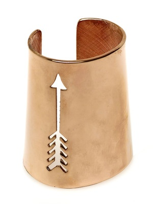 House of Harlow 1960 Rose Gold Cut-Out Long Arrow Cuff