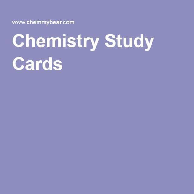 Chemistry Study Cards                                                       …