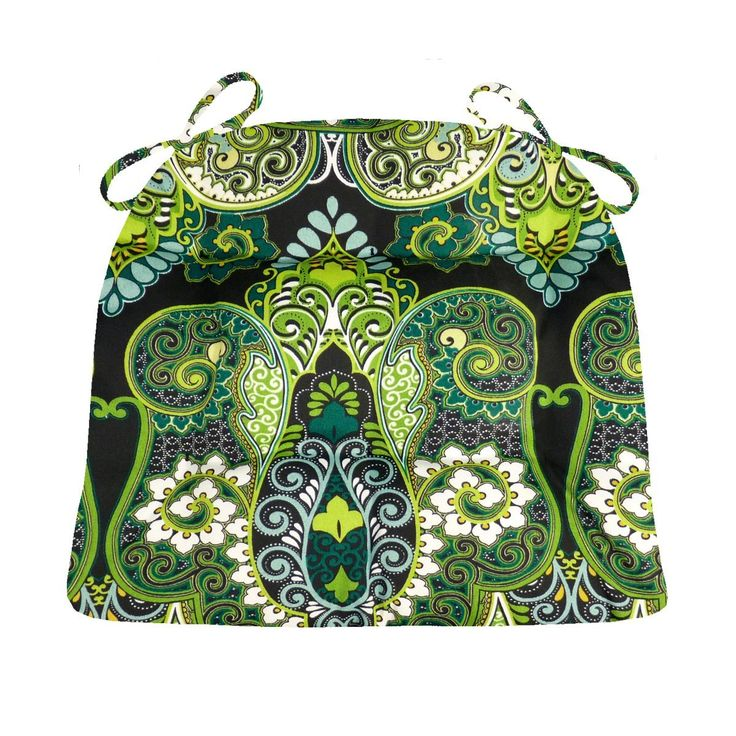 Patio Chair Cushion   Bold Paisley   Fade Resistant Mildew Resistant   U  Shaped