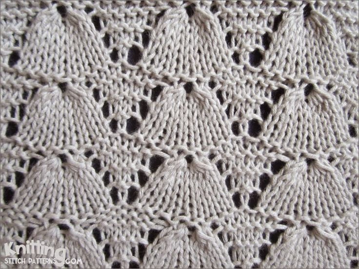 Knitting Patterns Shell Lace : En iyi 17 goruntu, Knitting orme ajurlar Pinterestte ...