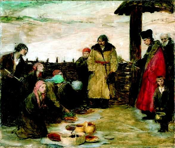Easter Food Blessing - Teodor Axentowicz