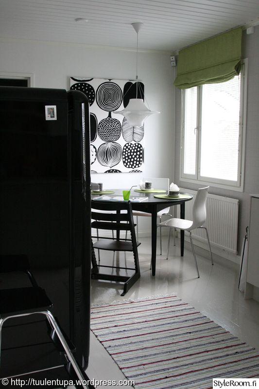 keittiö,taulu,marimekko,mustavalkoinen,tee itse
