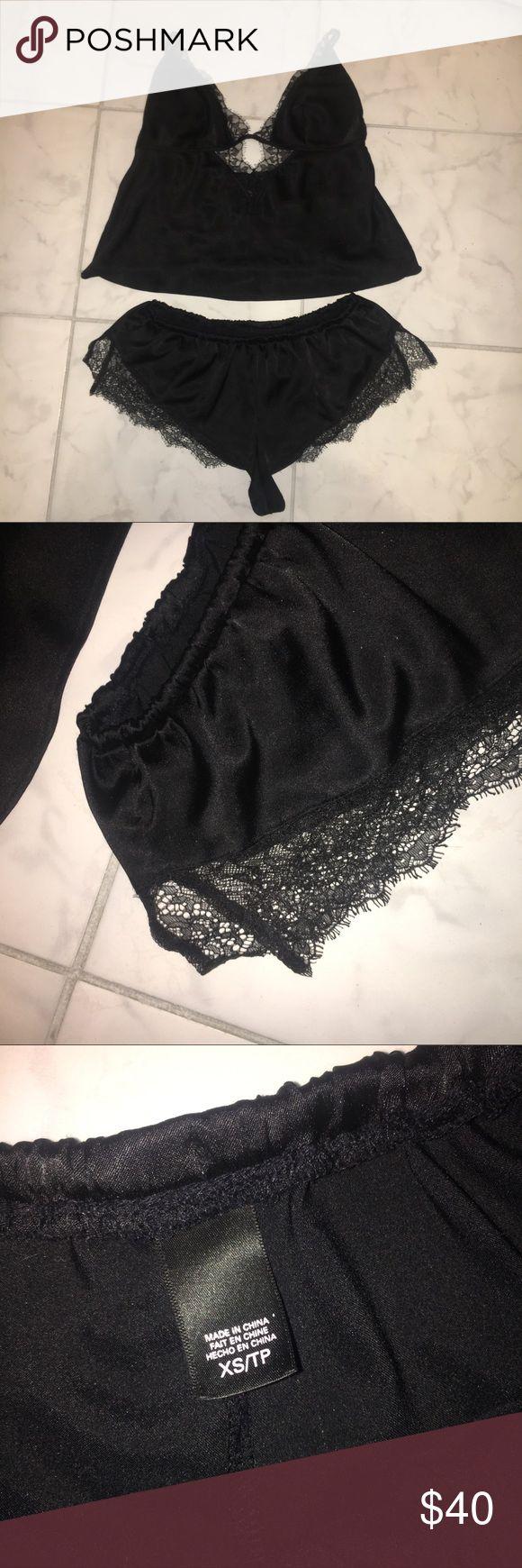 Victoria's Secret Black Silk Pajama Shorts and Top Top- s Bottom- xs   Adjustable straps on top Victoria's Secret Intimates & Sleepwear Pajamas