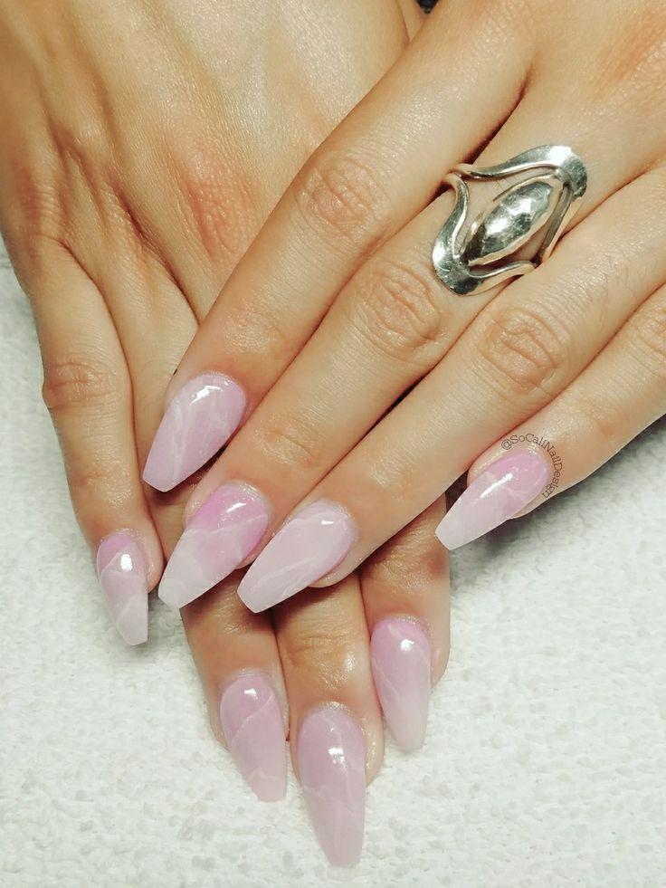 Rose quartz nails done by moi... @SoCaliNailDesign