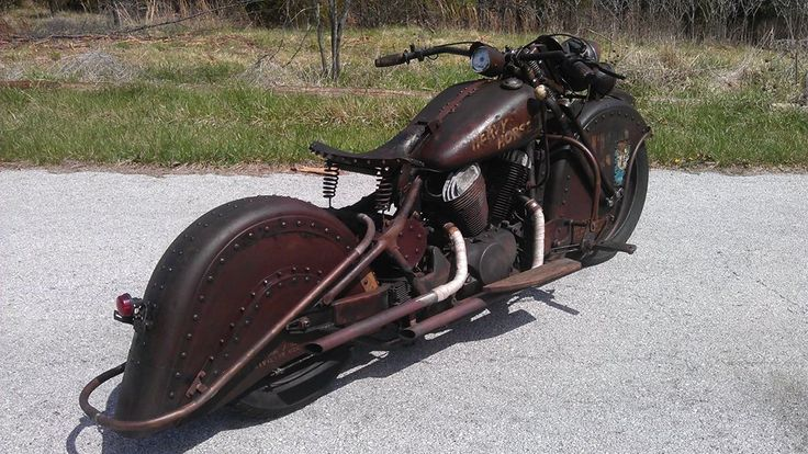 Honda VT750 Spirit.  A blend of my aesthetic interests.  Alittle bit Mid-century Indian/Harley  Motorcycle, alittle steampunk, alittle military, and even alittle bit Soviet bullet train influence.