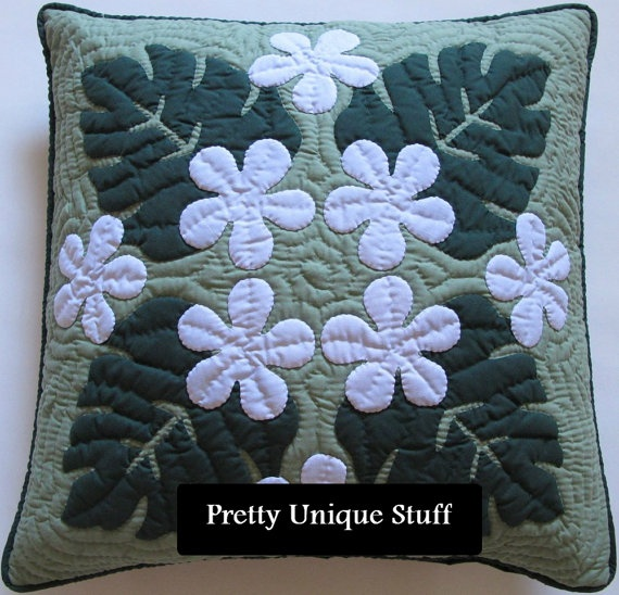 18 Hawaiian Quilt Pillow Covers  Set of 2 by prettyuniquestuff, $99.99