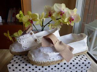 Alpargatas personalizadas para pajes de boda.