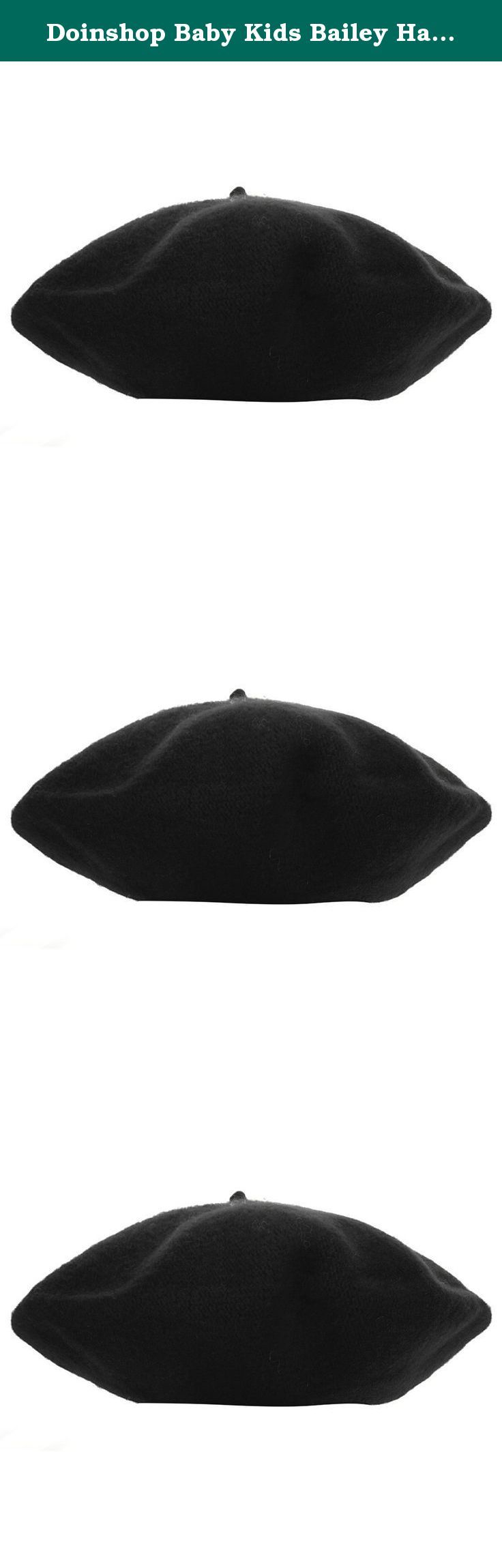Doinshop Baby Kids Bailey Hat Toddler Infant Dome Beret Cap Headwear (black). Package Content: 1PC Hat (without retail package).