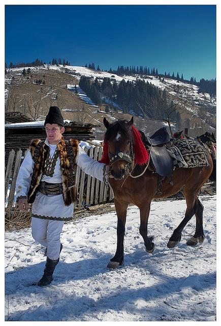 Man dressed in a traditional costume, Romania, www.romaniasfriends.com