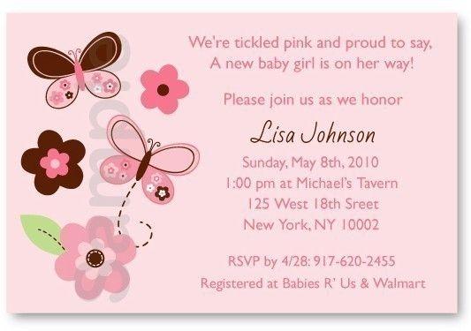 Pink Butterfly Flower Printable Baby Shower por LittlePrintsParties, $10.00