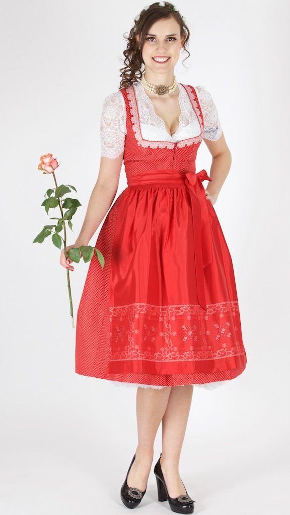 #Farbbberatung #Stilberatung #Farbenreich mit www.farben-reich.com Wenger Dirndl Gerda rotr