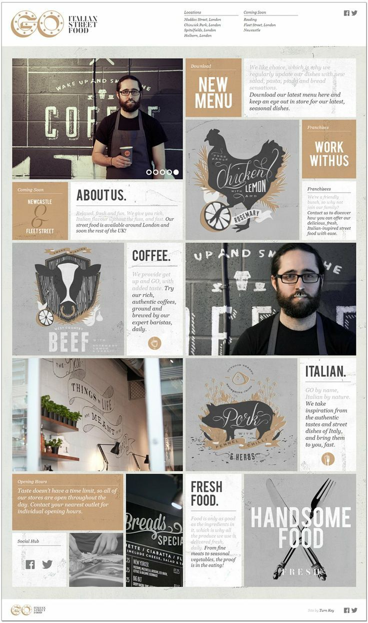 How great is this coffee-inspired, masculine color palette? We love the grid…