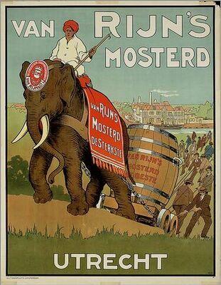 Vintage advertising  - Van Rijn's mosterd - Dutch
