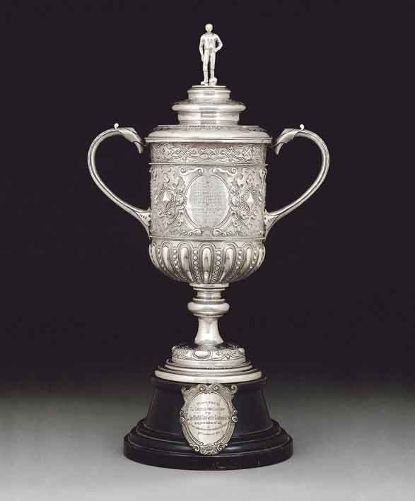 The FA Cup 1896 - 1910. Sold by Christie's in May 2005, it was bought by West Ham United chairman David Gold for £420,000, setting a new record for a piece of British sporting memorabilia.