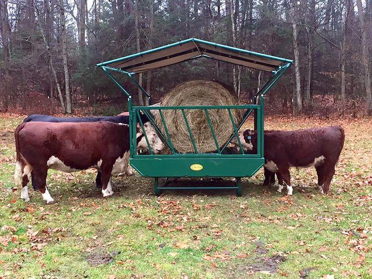 Cattle Hay Feeder on Skids