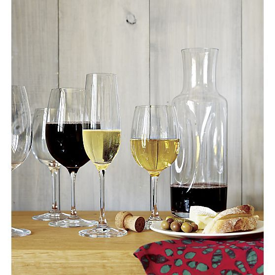 Viv Big Red Wine Glasses Set of Eight  | Crate and Barrel