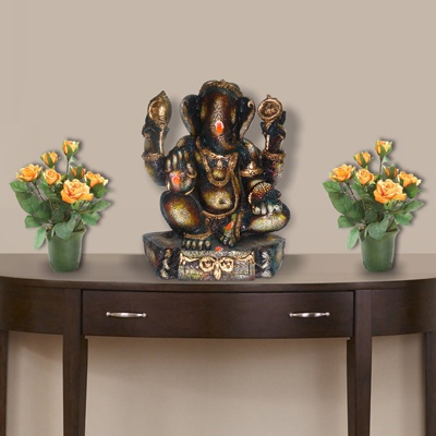 A Traditional Ganpati Statue From Our New Range Of Ganesha Products On The Auspicious Occasion