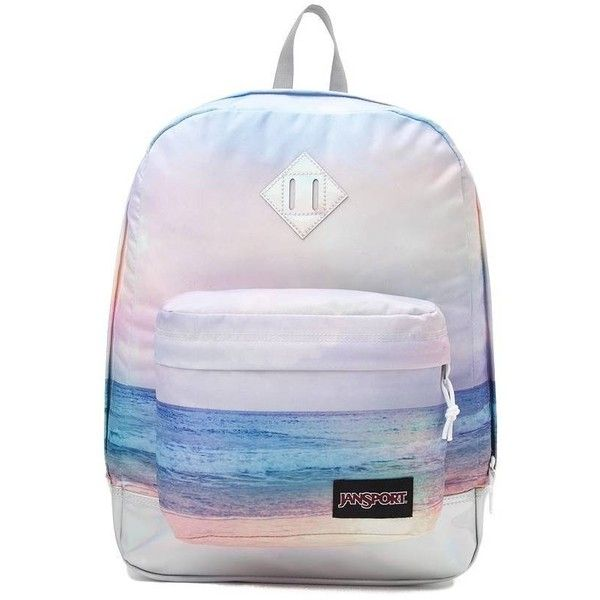 JanSport Super FX Sunrise Backpack ❤ liked on Polyvore featuring bags, backpacks, pocket bag, backpacks bags, pocket backpack, jansport backpack and jansport rucksack