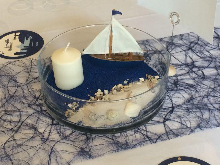 Centre de table mer home made homemade mariage - Pinterest centre de table ...