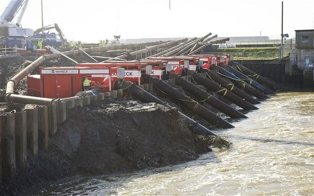 High volume pumps near Dunball, at the base of King's Sedgemoor Drain, of the kind once vetoed by Labour's Elliot Morley