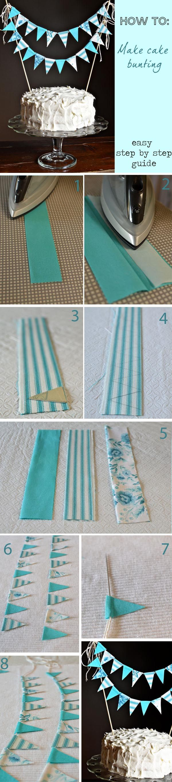 How To Make Cake Bunting Step By Step Guide