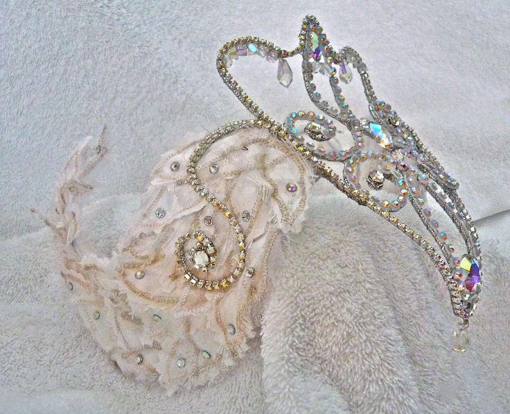 White Swan Black Swan Rhinestone Ballet by CarynWellsDesigns