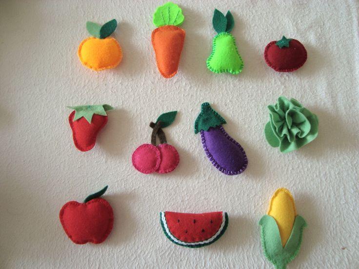 molde de frutas de feltro - Pesquisa Google