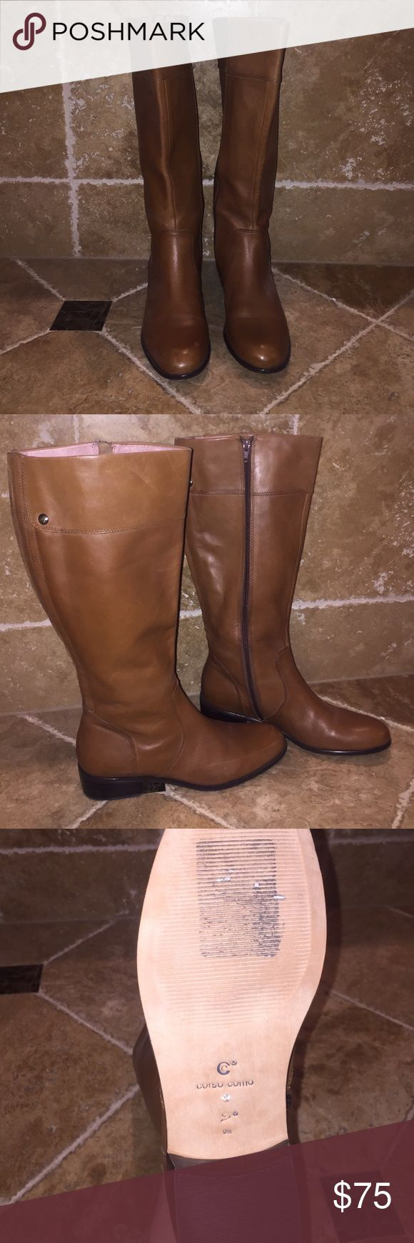 Corso Como Camel Riding Boots - Size 9 Seriously worn once. I tried to fit into a size 9 because I liked them so much, but they are too small. Corso Como Shoes