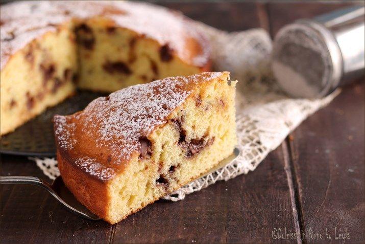 Torta soffice alla ricotta e cioccolato in pezzi: una torta morbida molto semplice e facile, adatta sia per la colazione che per la merenda.