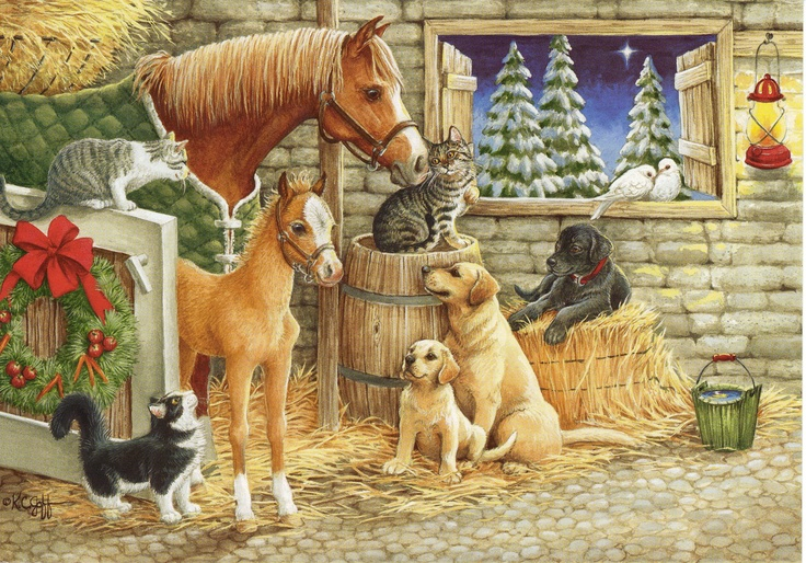 Image result for animals talk christmas eve