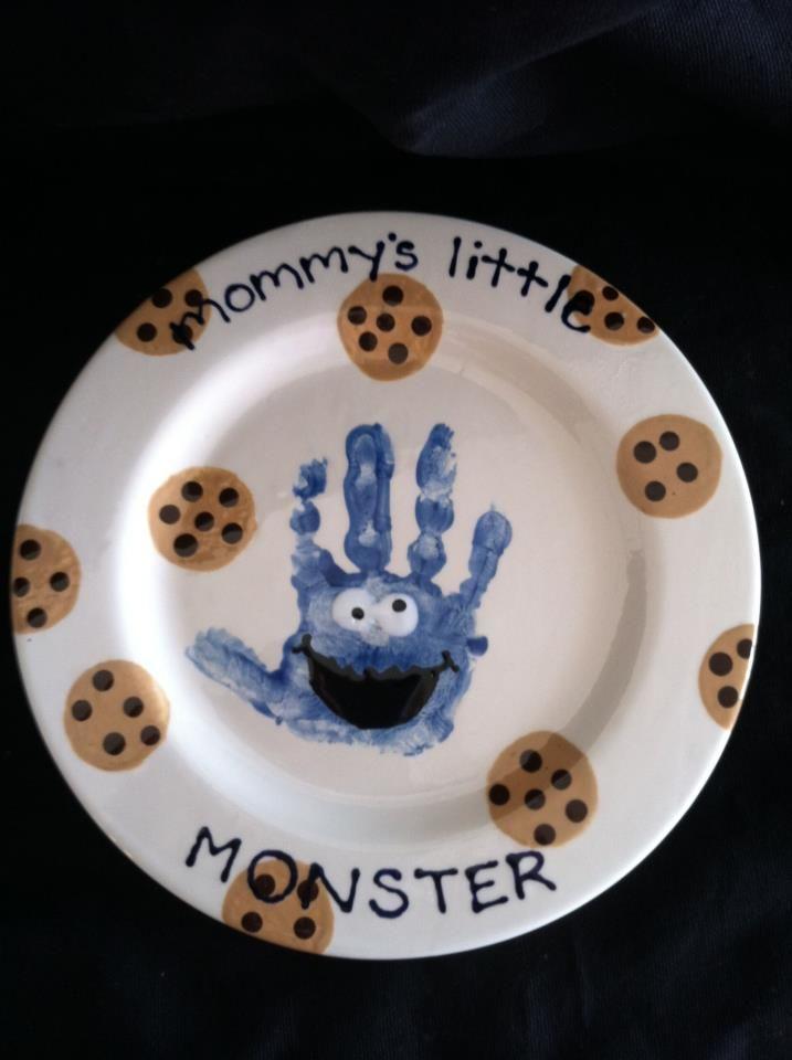 Homemade ceramic handprints crazy homemade for Handprint ceramic plate ideas