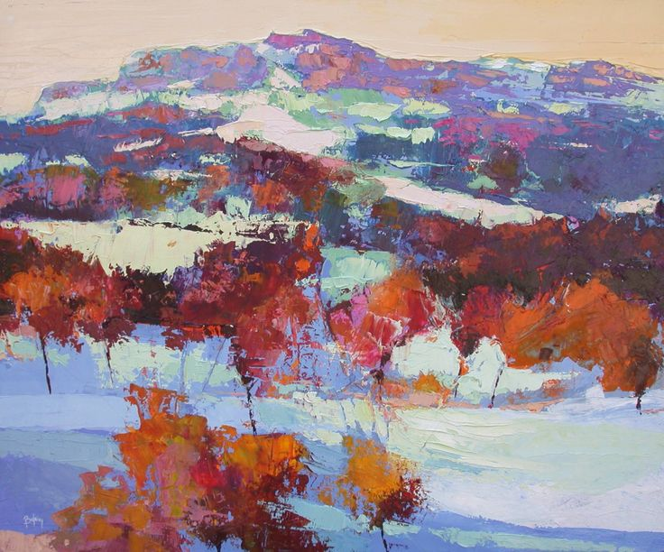 "Saatchi Art Artist: Alex Bertaina; Oil 2003 Painting ""Neige sur le Luberon"""