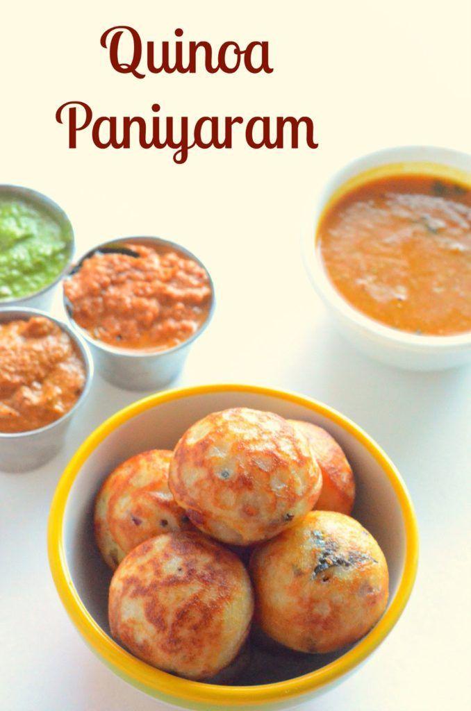 Quinoa Paniyaram Recipes
