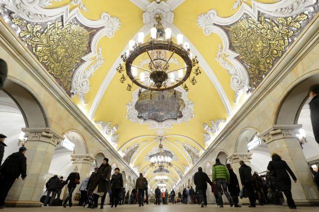 Komsomolskaya (Koltsevaya Line), Mosca, Russia