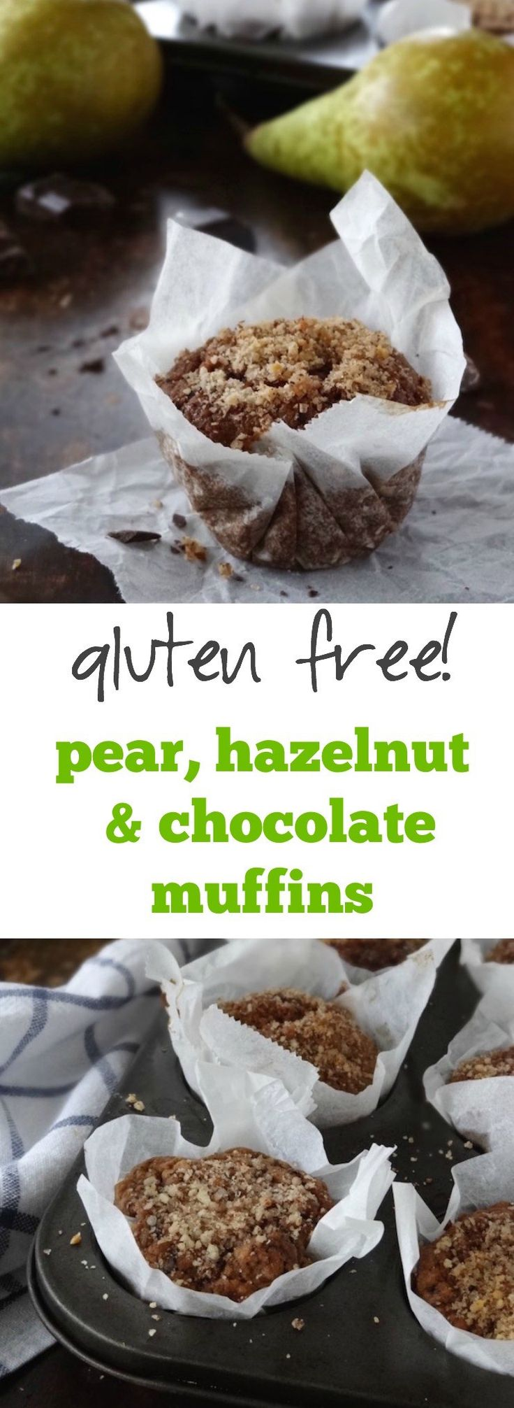 Hazelnut-Pear Muffins Recipe — Dishmaps